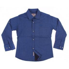 Рубашка A-Yugi 18081 (синяя геометрия)