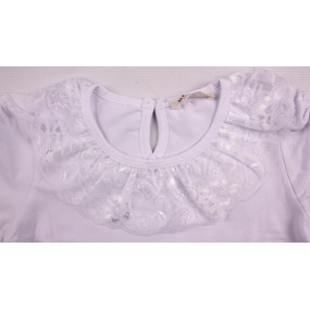 Блуза 11179 для девочки (BREEZE), белая