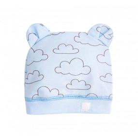 Шапочка Облачка ШП76 (100% хлопок), голубой