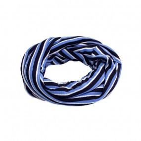Шапка + снуд 17214 хлопок (осень до 0' С), синий