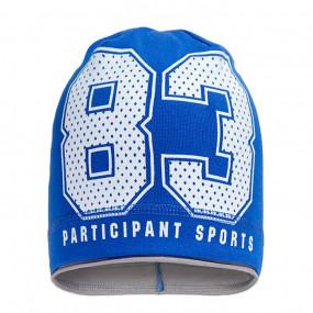 Демисезонная шапка 1710 (100% хлопок один слой), синий