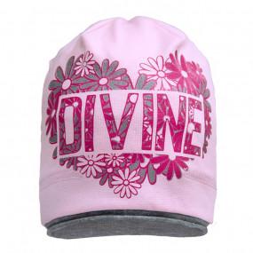 Демисезонная шапка 1706 (однослойная), розовая