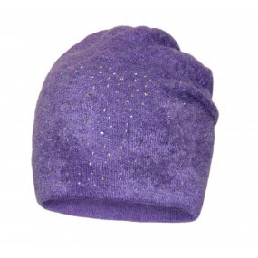 Шапка 3527 деми (ангора, стразы), фиолет