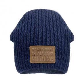Комплект 20117 тёмно-синий (вязка + флис)
