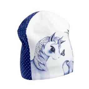 Деми шапка 20121 (премиум), единороги стразы