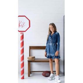 Платье KIZ by Kids дизайнерское (Польша) деним синий