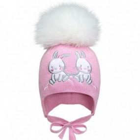 Комплект зима 2104 роза (премиум) шапка и бафф