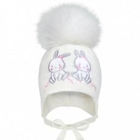 Комплект зима 2104 молоко (премиум) шапка и бафф