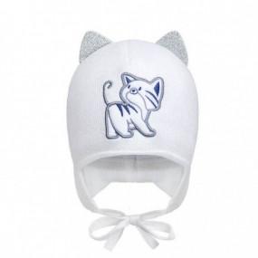 Комплект зима 2073 белый (премиум) шапка и бафф