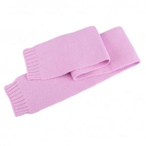Шарф розовый детский Польша (110 х 13 см), 100% шерсть мериноса