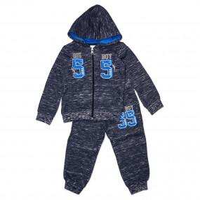 Тёплый спортивный костюм 55 (трёхнитка) СИНИЕ ЦИФРЫ!