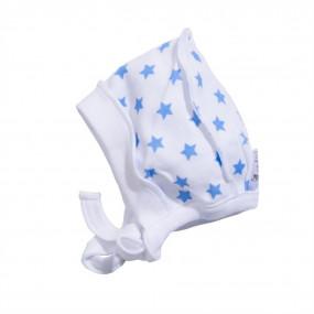 Чепчик Звёзды голубые (супрем), 100% хлопок