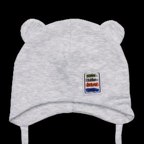 Деми шапка Teddy Movement (двойной хлопок), серый меланж