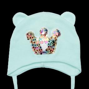 Деми шапка Princess (двойной хлопок), ментол
