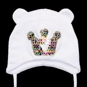 Деми шапка Princess (двойной хлопок), белый
