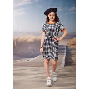 Платье ШЕРИ гусиная лапка (кулир)