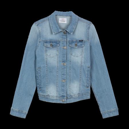 Куртка джинсовая 10011054-С10 для девочки TIFFOSI (Португалия)