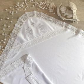 """Крыжма """"Аріна"""" белая с вышивкой (интерлок) 75х80 см"""