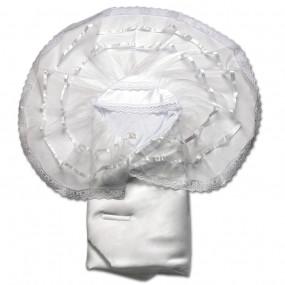 """Конверт-одеяло """"Вуаль"""" (весна-осень), белый 80х80 см"""