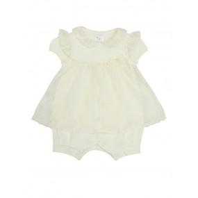 Песочник-платье 109955-м Elegance молочный (кулир, гипюр)