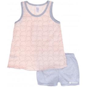 Пижама для девочки Spirit майка/шорты (104626), розовый/серый