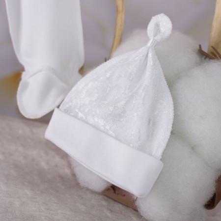 """Костюм """"Лапуся"""" (интерлок с гипюром) белый или молочный"""