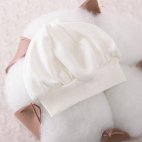 Берет нарядный для мальчика, молочный интерлок (100% хлопок)