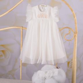 """Платье """"Софія"""" с повязкой (кнопочки по спинке), молочный"""