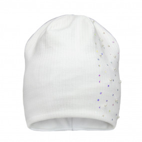 Деми шапка 21329 (молоко), двойная