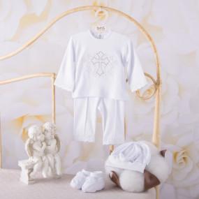 """Костюм """"Чарівний янгол"""" д.р. для крещения мальчика, белый"""