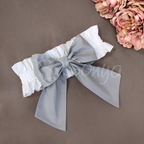 Бант-резинка серый (универсальный) на плед/конверт