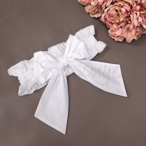 Бант-резинка белый (универсальный) на плед/конверт