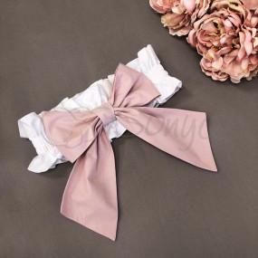 Бант-резинка розовый (универсальный) на плед/конверт