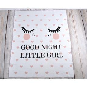 Плед Good Night розовый (100% хлопок) вязка жаккард