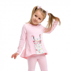 "Туника 114697 лама на розовом ""Для девочек"""
