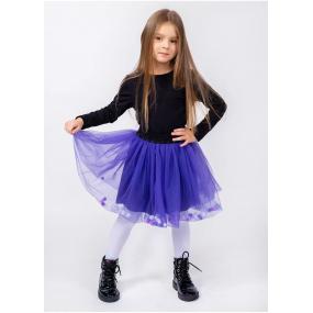 Юбка Magic фиолет - фатиновая c шариками (на хлопковой основе)