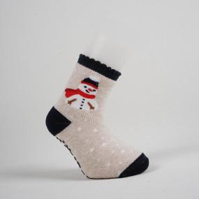 """Носки """"Merry Christmas"""" махра/стопперы - 1 пара"""