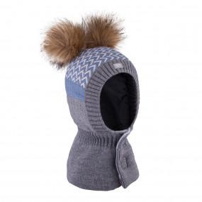 Шлем 3-005228 grey зимний НА ЛИПУЧКЕ (Польша)