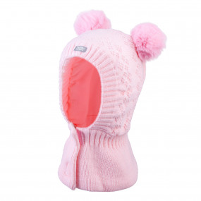 Шлем 3-005217 pink зимний НА ЛИПУЧКЕ (Польша)
