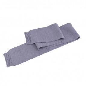 Шарф серый детский Польша (110 х 13 см), 100% шерсть мериноса