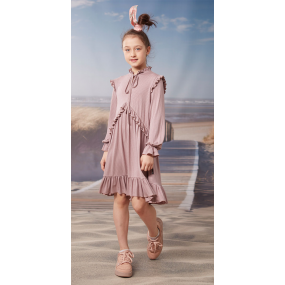 Платье КИРА кофе (трикотаж вискоза) ТМ ОВЕН