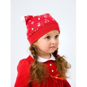 "Шапочка 118552 рисунок ""Рождество"" (интерлок-софт)"