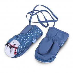 Краги 3-005099 голубые для малышей TUTU Poland, на хлопковом