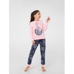 """Пижама """"Сквирики-2"""" розовый (интерлок-софт)"""