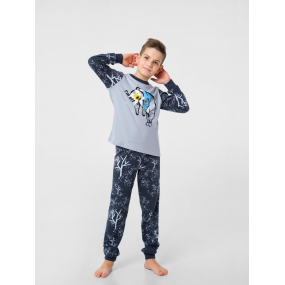 "Пижама ""Тедди-2"" серый/графит (интерлок-софт)"