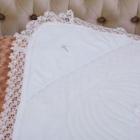 """Крыжма-одеяло с синтепоном """"Теплий янгол"""" 90х90 см, белая"""