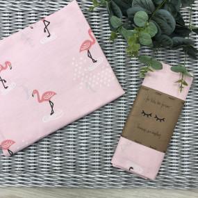 Пеленка бязь Фламинго роз. (100х80 см)