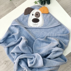 Полотенце-уголок Собачка - для купания, 100х80 см