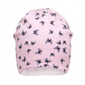 Деми шапка 2165 (двойной трикотаж), бабочки