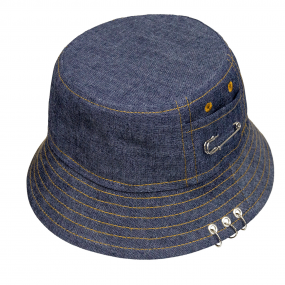 Шляпа-панама 2144 плотная (деним) 100% хлопок